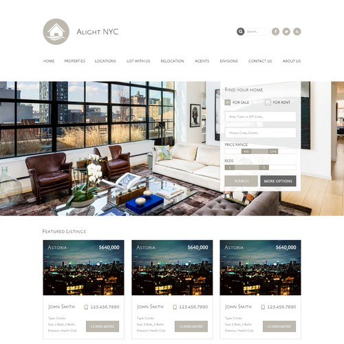 Create the next website or app design for Alight NYC