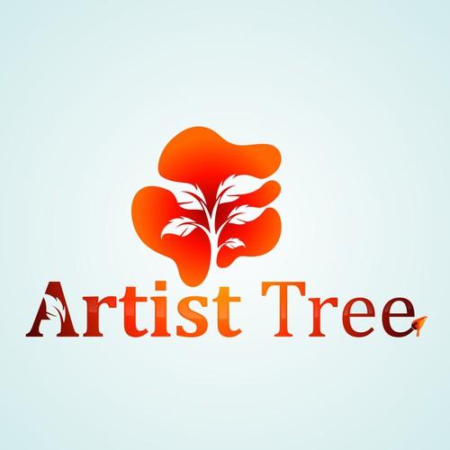 Create a stylish logo for a bespoke art website