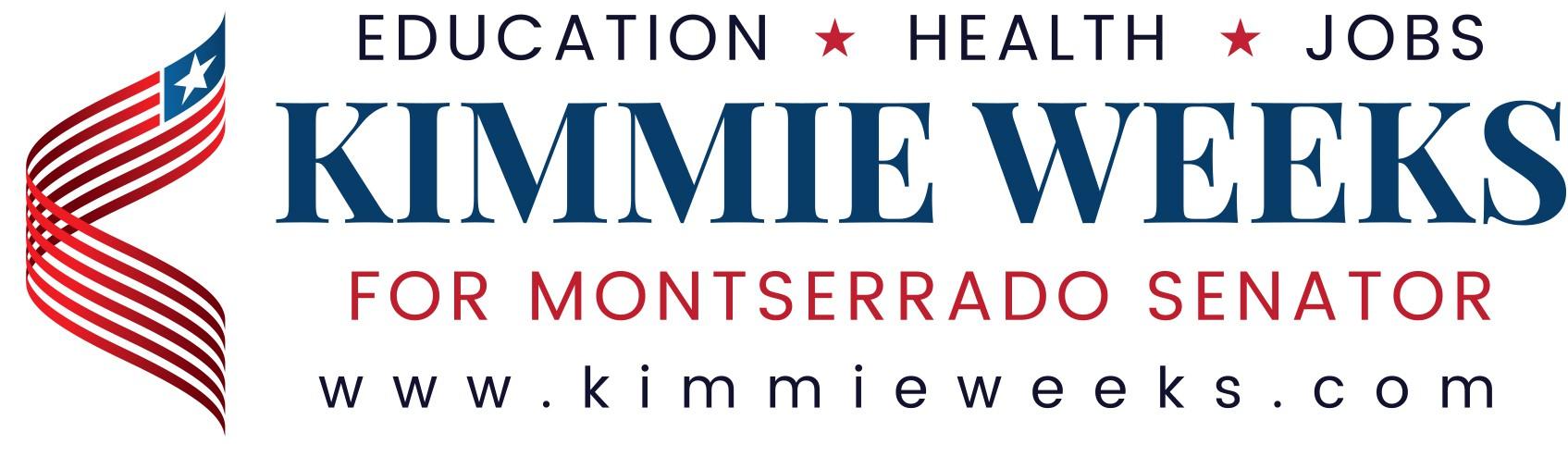 Kimmie Weeks for Senate Campaign Logo