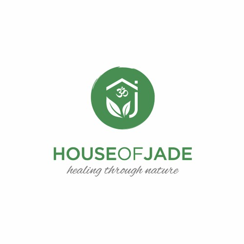 Create an captivating holistic illustration for House of Jade healing.Relaxed and zen, but elegant and sophisticated.