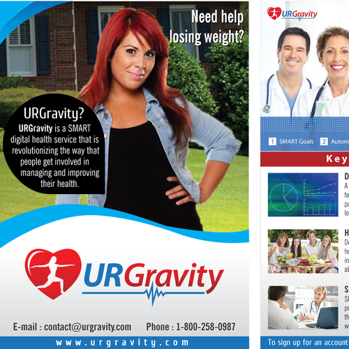 Help URGravity, the leading SMART digital Health Service  with a new postcard or flyer