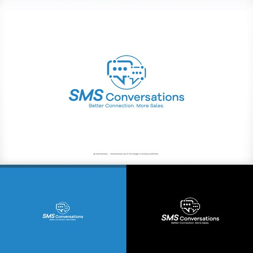 Logo for message app