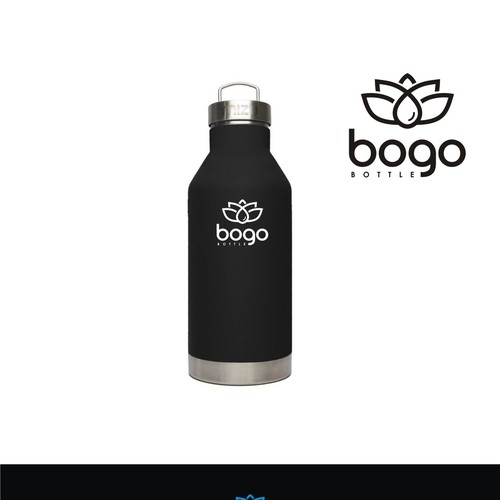 Create a simple and sharp logo for BOGO bottle