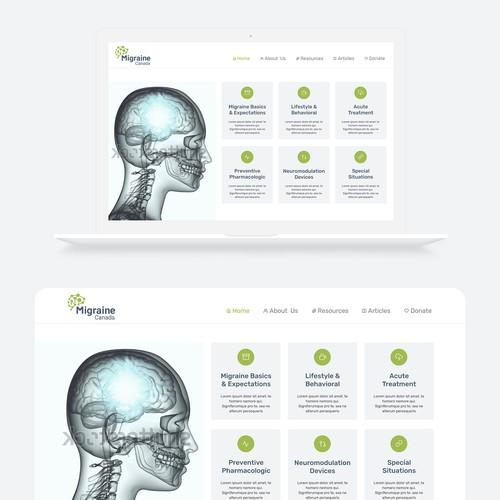 Migraine Library Landing Page Design Concept