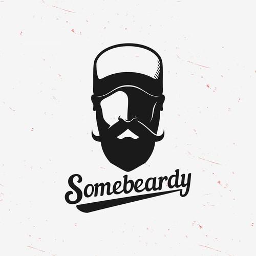 Simple and Clean Beardy Logo
