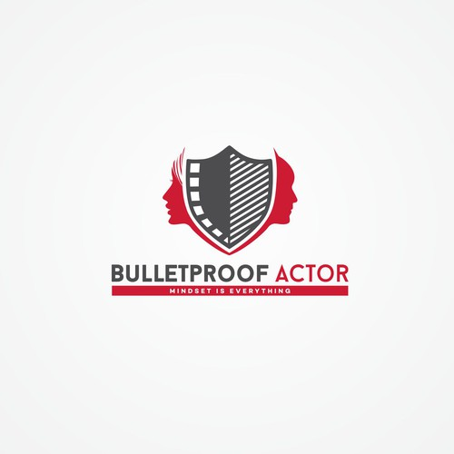 Create an AWESOME logo for 'Bulletproof Actor' - a new mindset coaching video course for actors!