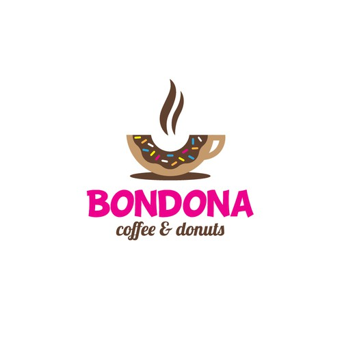 logo for coffee and donut shop