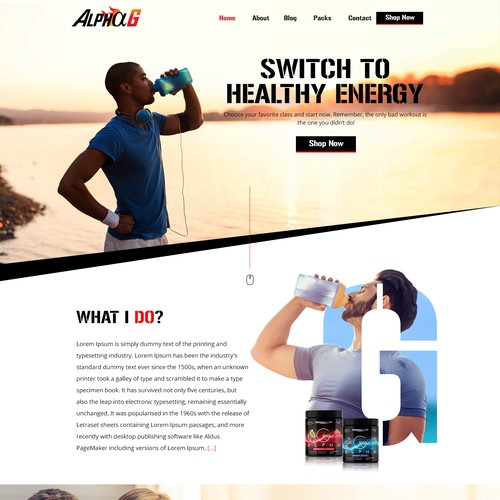 New Energy Drink  Alpha G