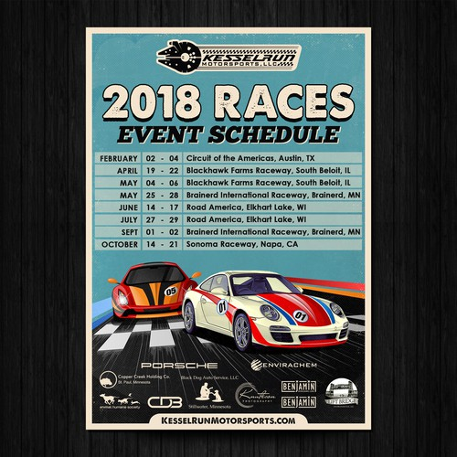 Event Schedule Race Poster