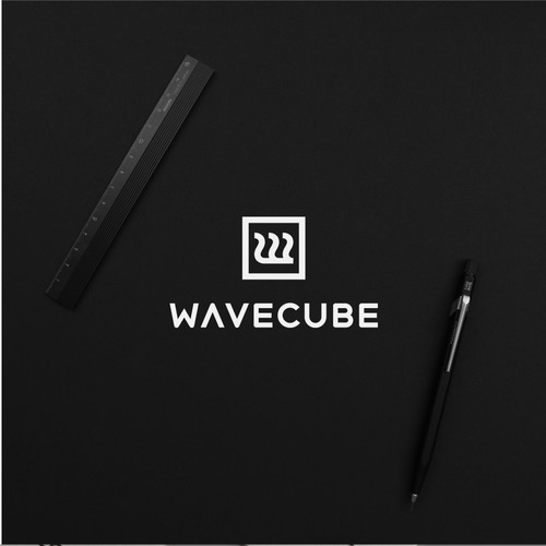Minimalist Architecture Logo for WaveCube