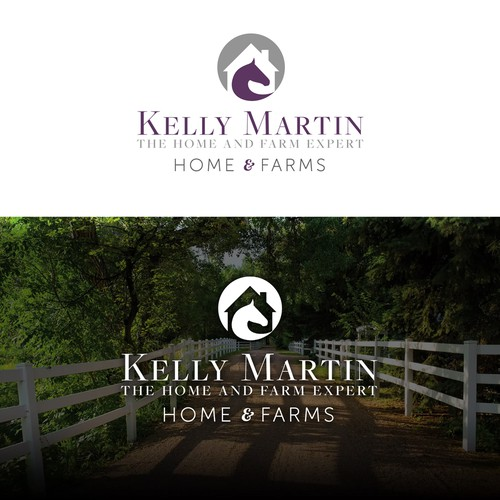 Multi-Purpose Equestrian Real Estate Logo