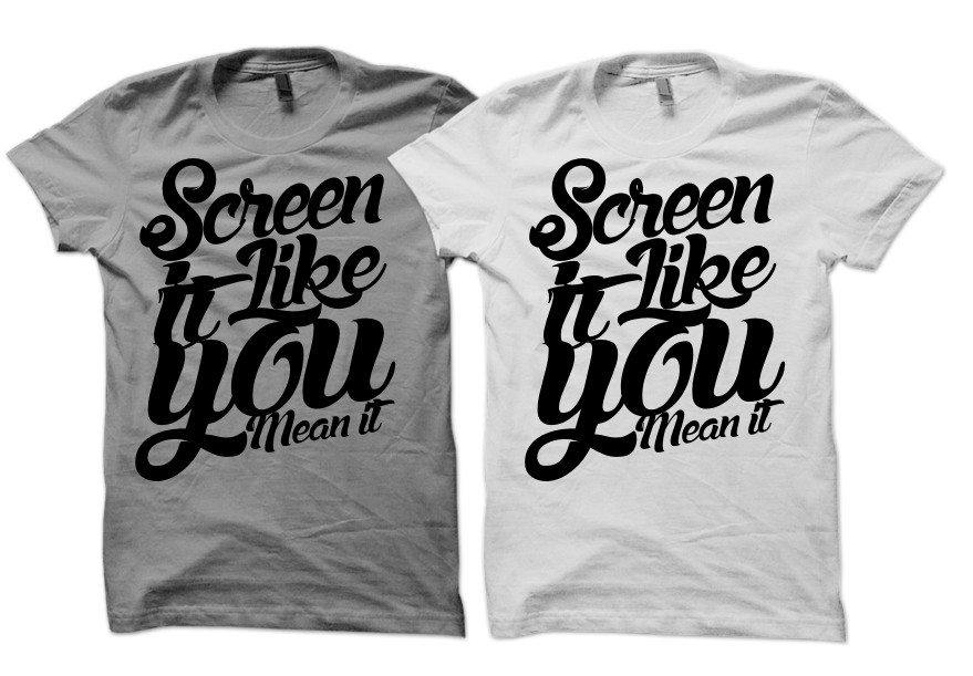 """""""Screen It Like You Mean It"""" T-Shirt for Cancer Awareness Month"""