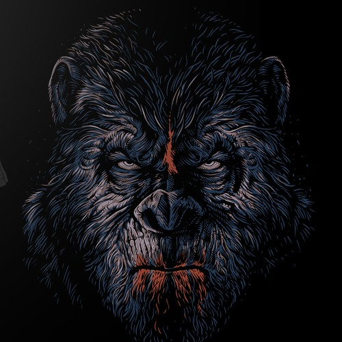 Market of the Apes T-Shirt Design