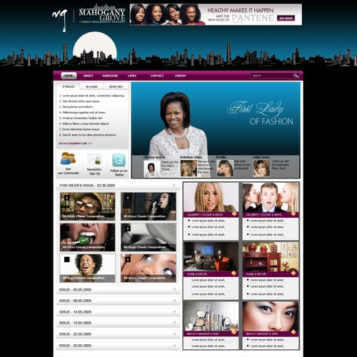 Urban Media Company Wordpress Design - Creativity is encouraged