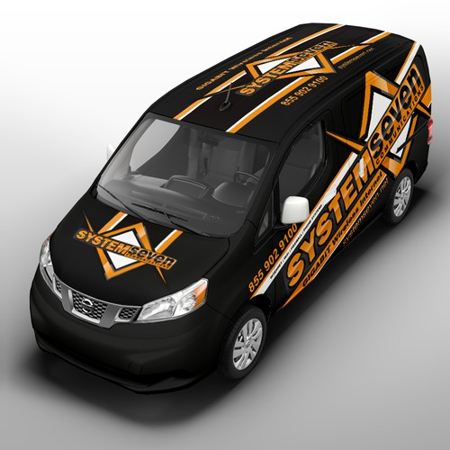 Create awesome van wrap for Wireless ISP in Austin, TX