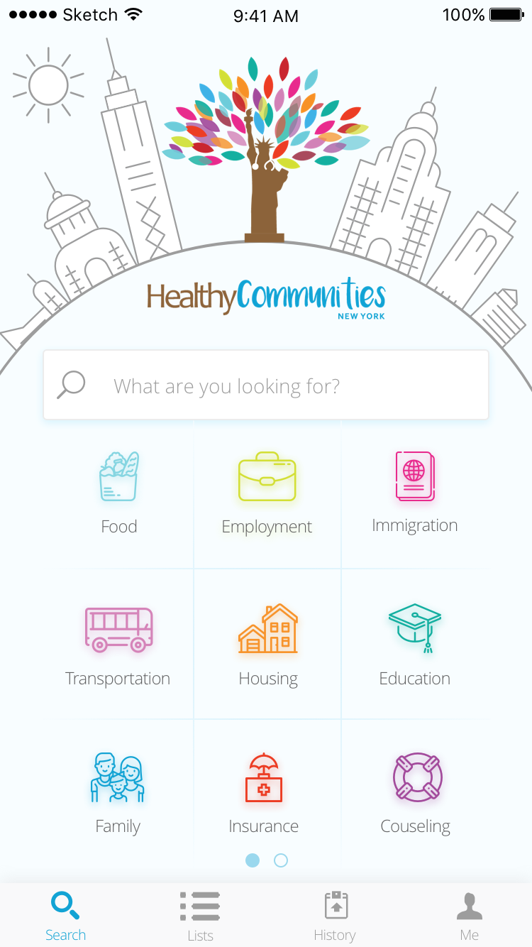 NYC Social Services Discovery App