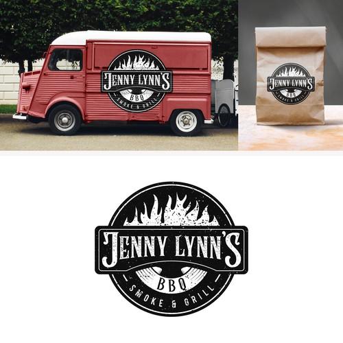 Rustic logo for Jenny Lynn's