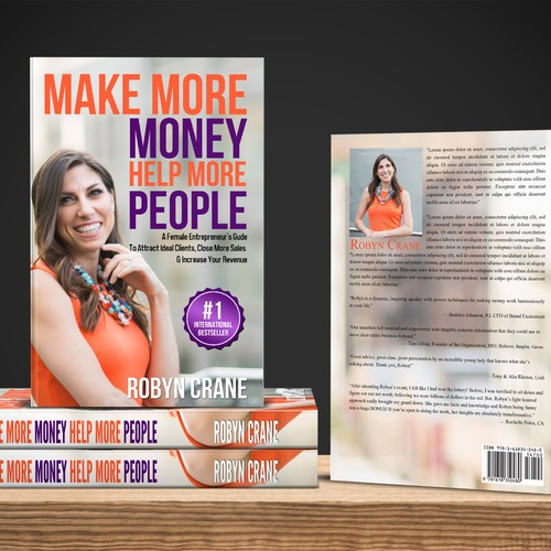 "Cover book concept For Robyn Crane "" Make more Money Help more People """