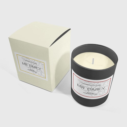 Candle mockup - Mr Darcy
