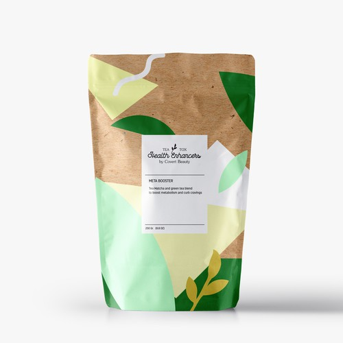 Package design for a green tea