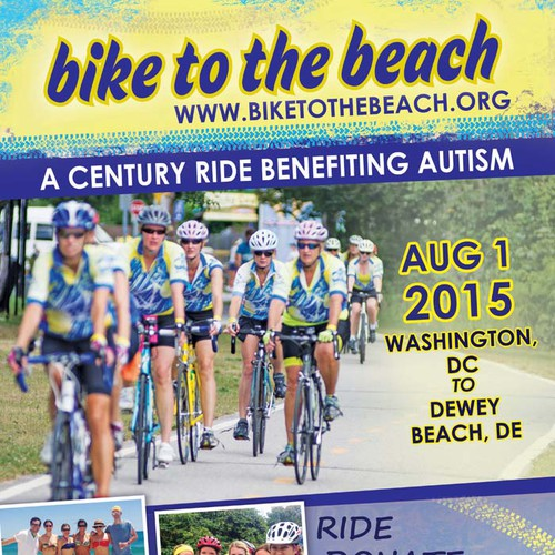 Poster & Flyer Re-design for Non-profit Cycling Events for autism