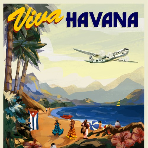 Vintage Airline Travel Poster