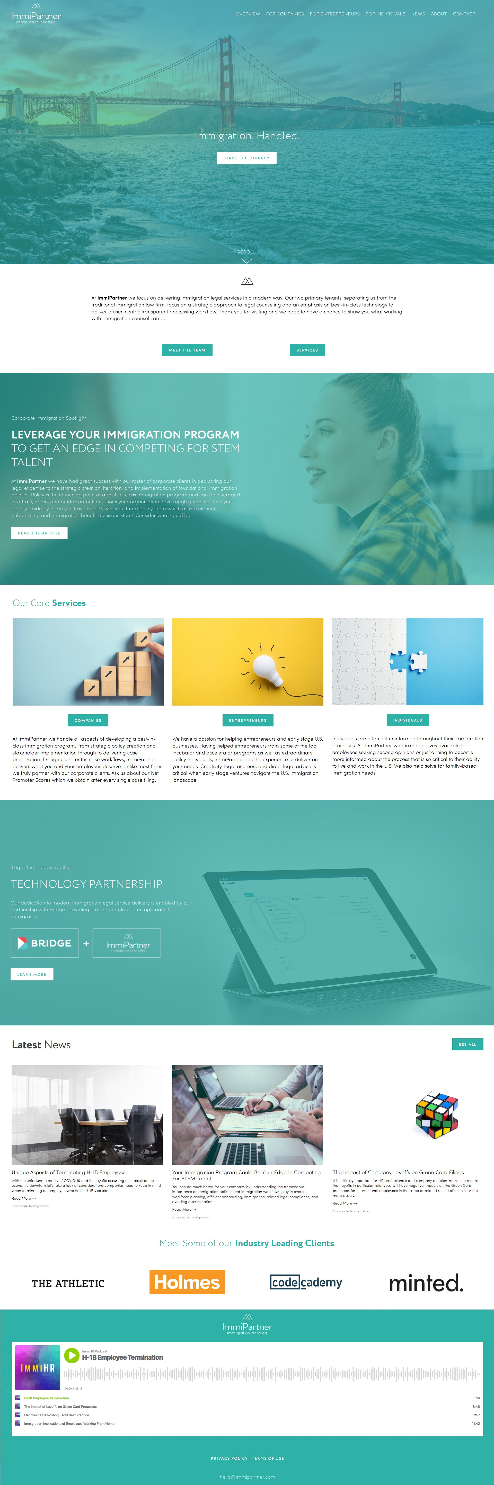 ImmiPartner Website Revamp