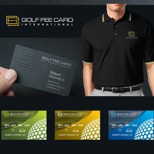 Golf Fee Card International Logo Design