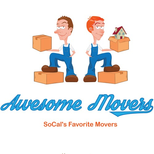 Logo for a moving company
