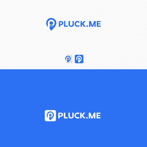 "Create a global recognisable logo for ""PLUCK.ME"" needs to emphasis thestatement"