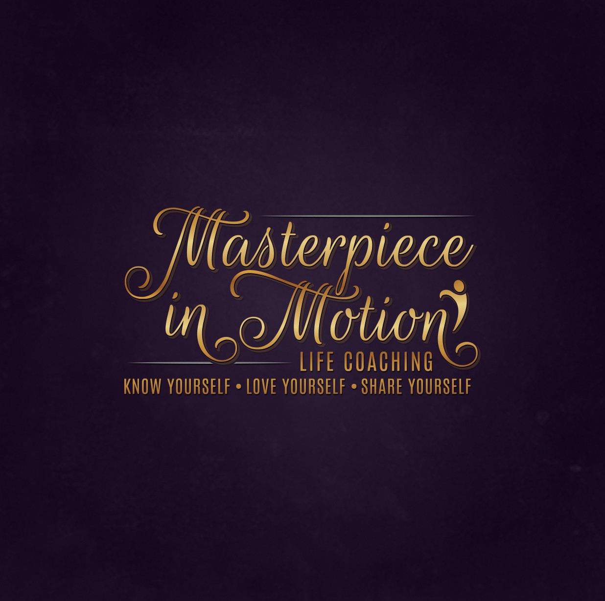 vintage classic simple logo for Masterpiece in Motion Life Coaching