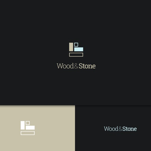 Logo design for wood and stone