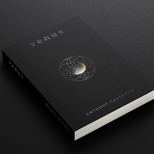 Minimal book cover for poetry book