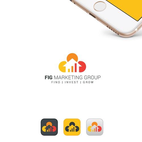 Unique Financial Investment Logo