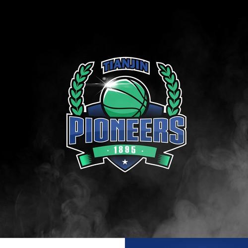 TIANJIN PIONEERS Basketball Sport Logo