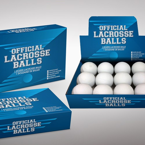 Packaging box for lacrosse balls