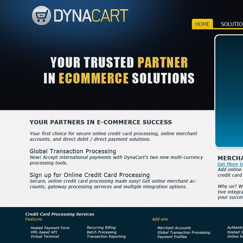Create the next website design for Dynacart.com