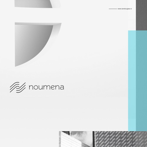 Minimalist mark for fintech company Noumena
