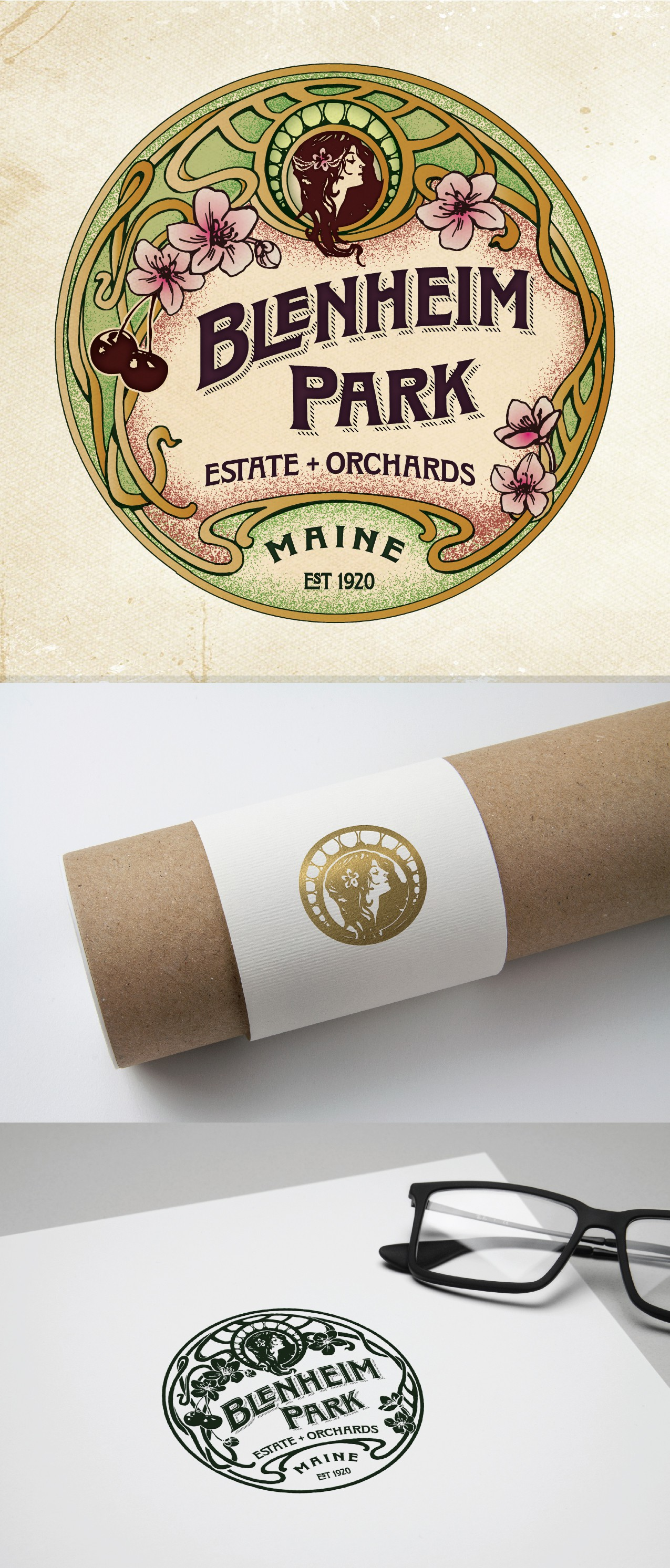Brand and Identity for Lakeside estate and cherry orchard (plus products)