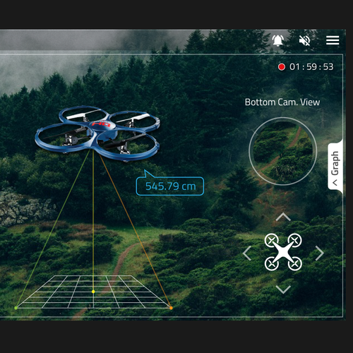 Augmented Reality App Design for QuadCopter.