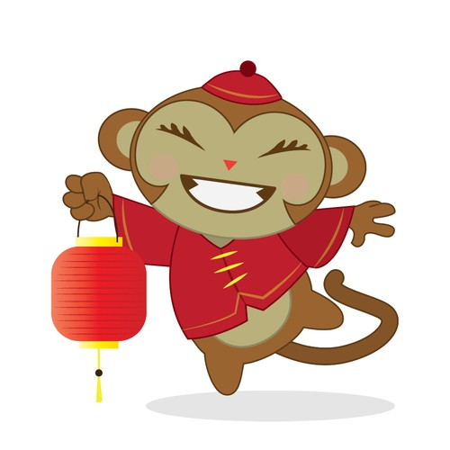 Create a monkey, the mascot of the 2016 Chinese New Year