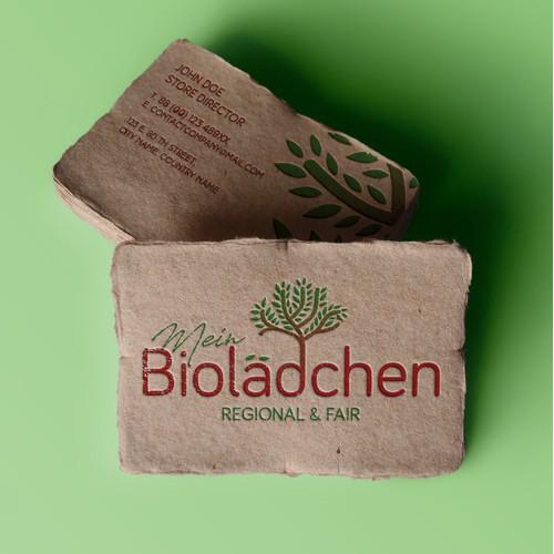 Logo for an organic shop