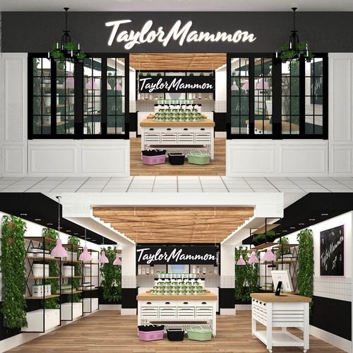 Design a 3d render of New CBD Retail Shop Concept