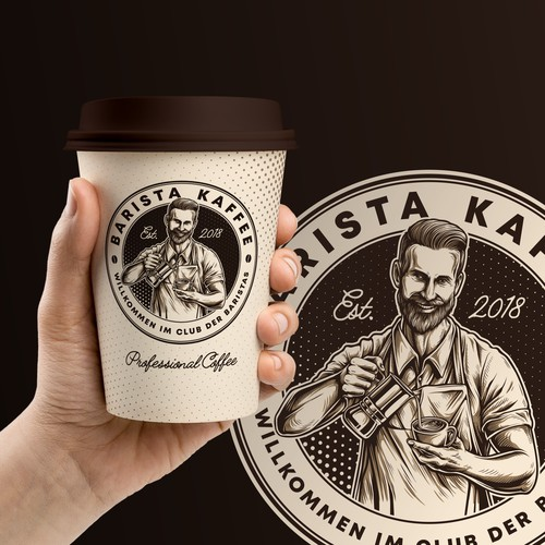 Custom logo work for Barista Kaffee