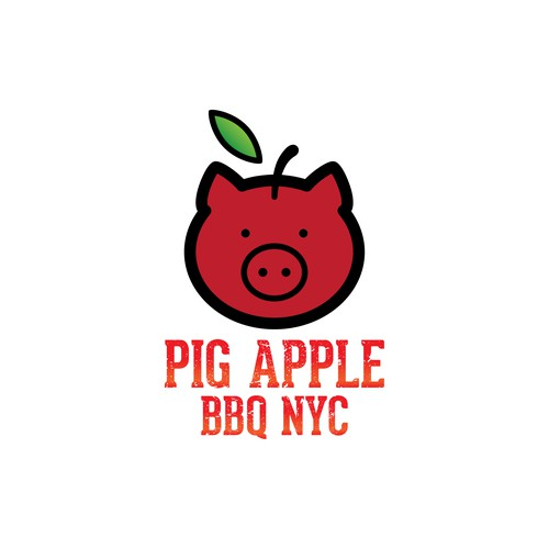 Pig Apple Logo Design