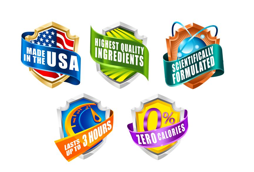 5 label symbols