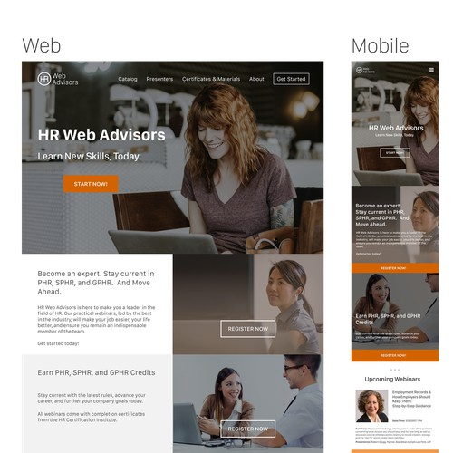 Web site for HR company