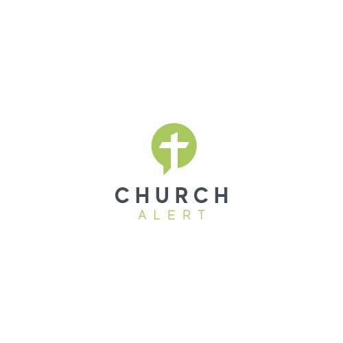 Minimal logo design for a church alerting app