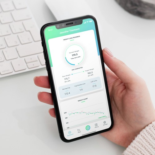 Weight Tracker Mobile App Design
