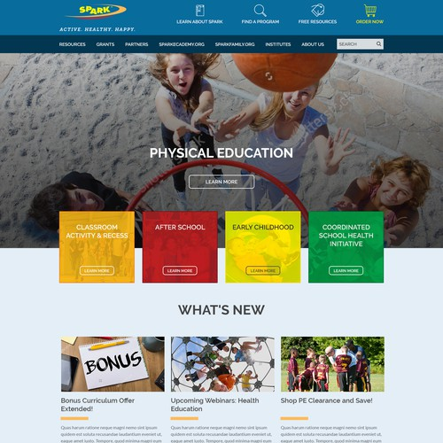 Wordpress theme for organization that Combats Childhood Obesity